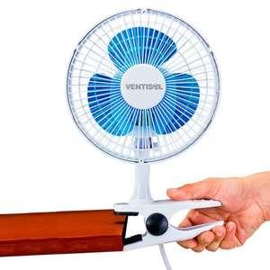 Ventilador de Mesa 3 Pás Ventisol Mini Azul/branco 20cm - 110v - Vm2001