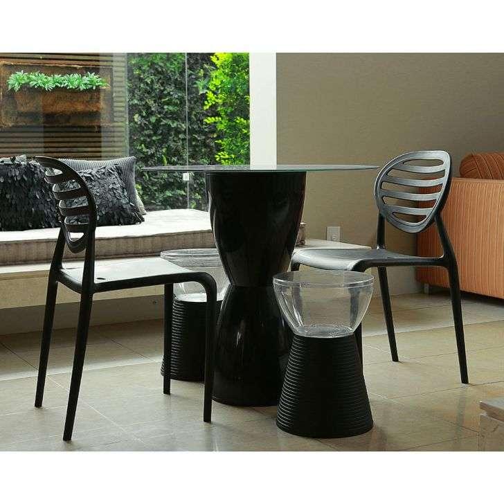 Conjunto de Mesa e Cadeira Lounge 4 Cadeiras I'm In Home
