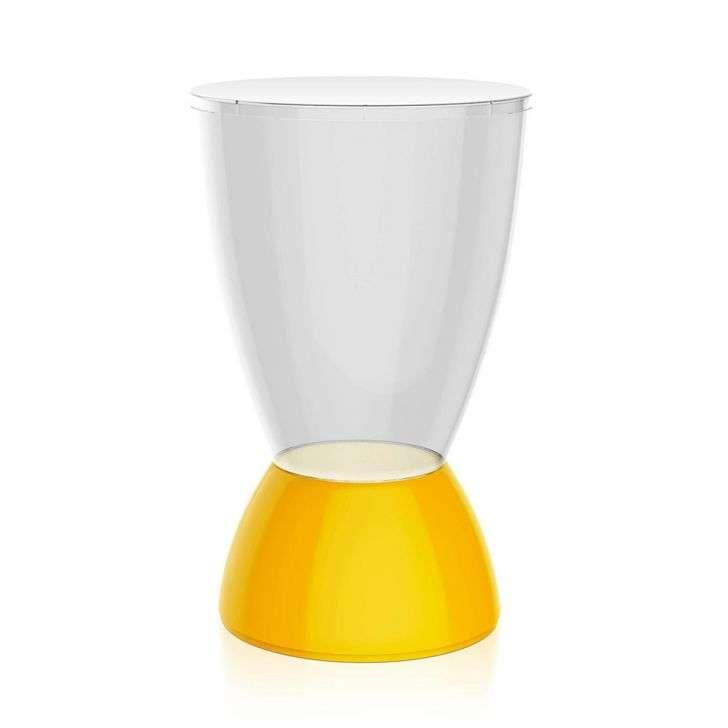 Banqueta Argo Assento Cristal Base Color Amarela I'm In Home