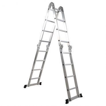 Escada de Aço Articulada Jlap 4x4 16 Degraus 20107 Br Home