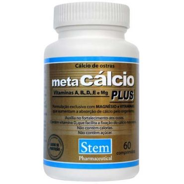 Stem Pharmaceutical Meta Cálcio Plus 60 Comprimidos