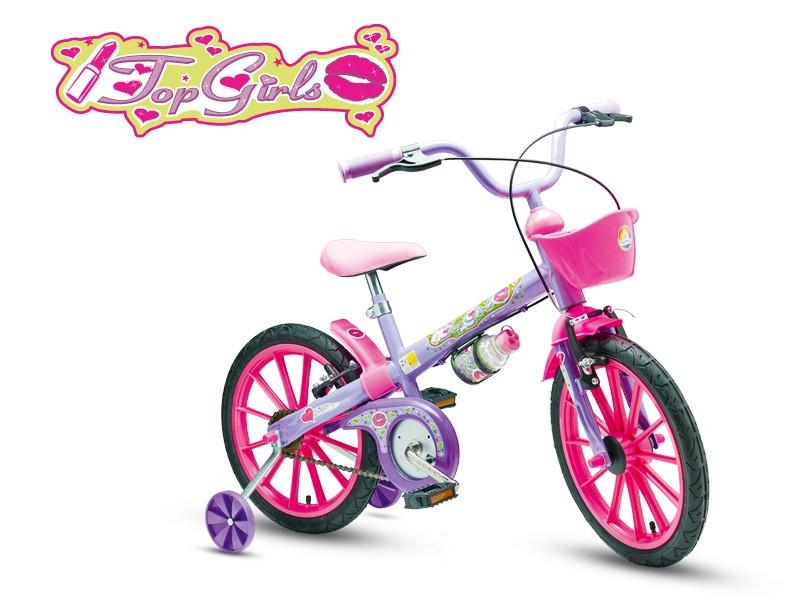 Bicicleta Nathor Top Girls Aro 16 Rígida 1 Marcha - Lilás