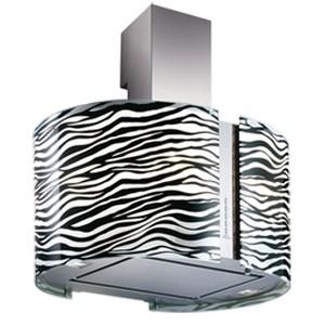 Coifa de Parede Falmec 67 Cm Mirabilia Zebra Inox - 220v - Com Vidro Preto - K4603a