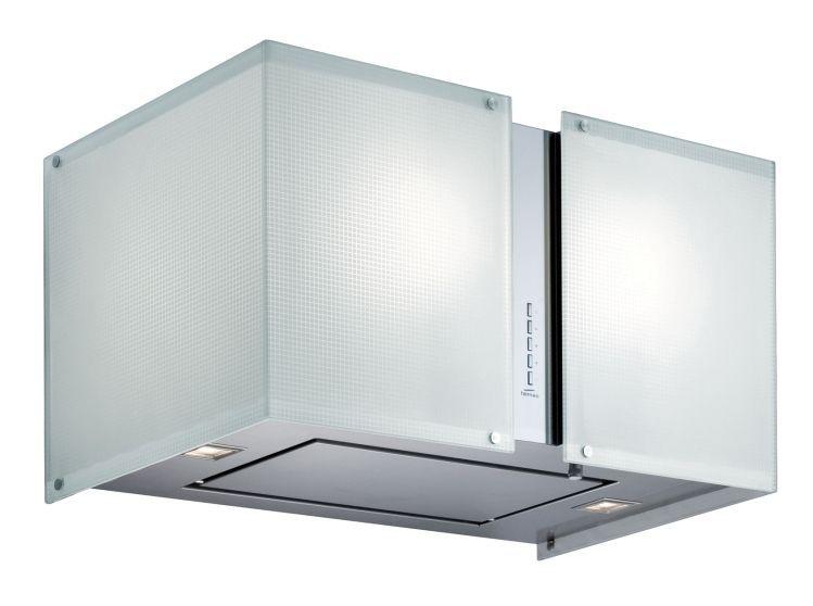 Coifa de Ilha Falmec 67 Cm Mirabilia Square Maia Inox - 220v - Com Vidro Branco - K46514i
