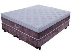Colchão Probel Fiore Confort Luxo - Marrom 193x203x32cm Molas Pocket King Size
