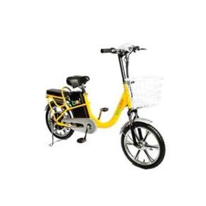 Bicicleta Elétrica Biobike Aro 18 Susp. Dianteira Amarelo 250w - Eb01