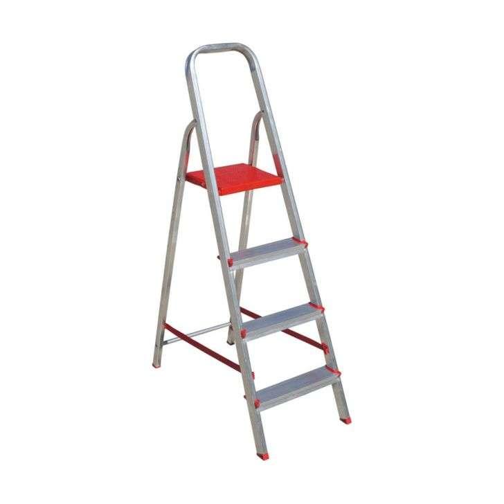 Escada de Alumínio Doméstica 4 Degraus Esc063 Botafogo