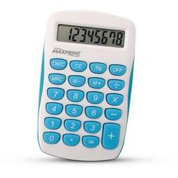 Calculadora Eletrônica de Mesa Azul/branca Mxc85 Maxprint