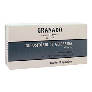 Supositorio de Glicerina Cx 12 Sup Ret Inf - Glicerol - Granado