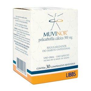 Muvinor 500mg Cx 30 Comp - Policarbofila Calcica - Libbs