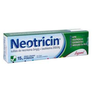 Neotricin Pom Bg 15g - Sulfato de Neomicina + Bacitracina - Legrand