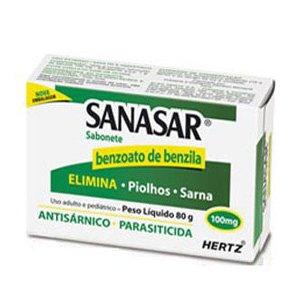 Sanasar 0,10g Cx Sab 80g - Benzoato de Benzila - Hertz