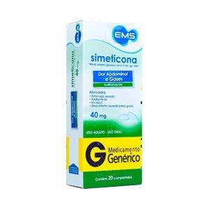 Dimeticona 40mg Cx 20 Comp - Dimeticona - Ems