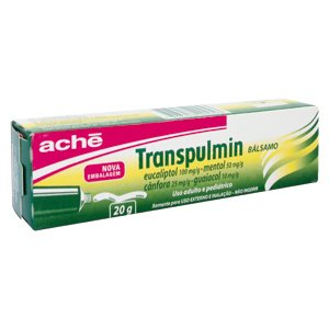 Transpulmin 25 + 100 + 10 + 50mg Balsamo Bg 20g - Canfora + Eucaliptol + Mentol + Guaiacol - Ache