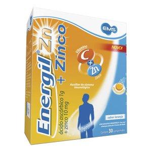 Energil Zinco 1g + 10mg Tb 30 Comp Efev - Ems - Div Consumo