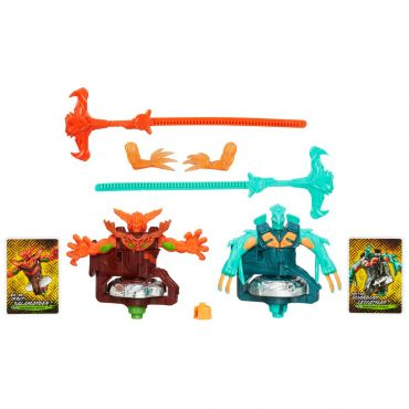 Pião Beyblade Shogun Steel Fire e Water Element Hasbro