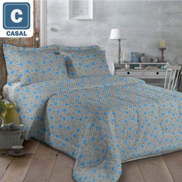 Colcha Têxtil Guerreiro Casal Don 4 Peças