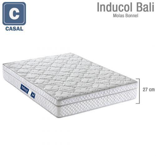 Colchão Inducol Bali 138x188x26cm Molas Pocket Casal