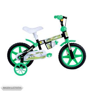 Bicicleta Houston Mini Boy Aro 12 Rígida 1 Marcha - Preto/verde