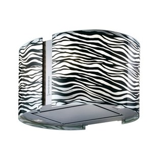 Coifa de Ilha Falmec 67 Cm Mirabilia Zebra Inox - 220v - Com Vidro Preto - K46513z