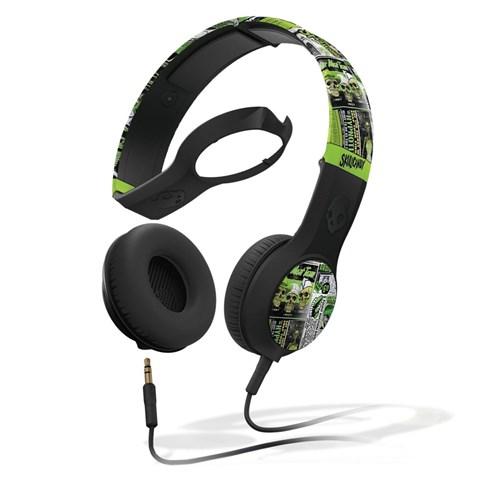 Fone de Ouvido Headphone Cassete Preto e Verde Skullcandy S5csdy-252