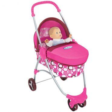 Carrinho de Boneca Deluxe de Bebê para Bonecas Graco Rosa Br141 Multikids