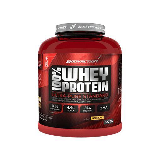 100% Whey Protein 2,27kg Morango Body Action