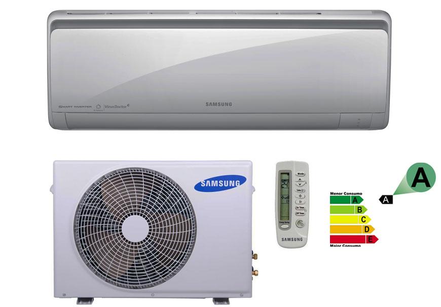 Ar Condicionado Split 18000 Btu Quente/frio Smart - Inverter - Samsung - 220v - Aqv18psbt/xaz