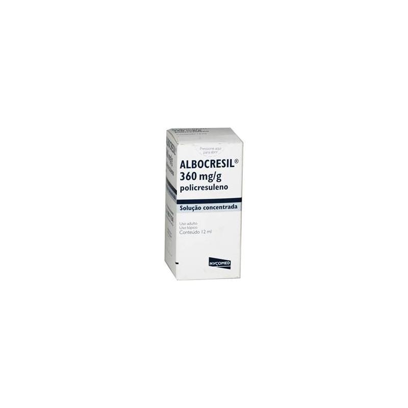 Albocresil Sol Fr 12ml - Policresuleno - Nycomed Pharma