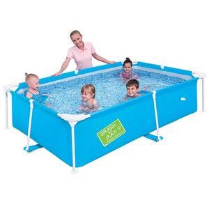 Piscina Retangular Bestway Frame Pool Azul 23442 1.800l