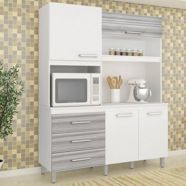 Cozinha Completa Darmovel Móveis Bianca 4 Portas 4 Gavetas