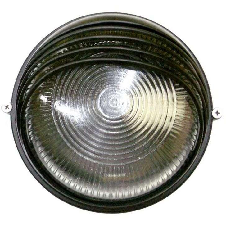 Arandela Home Line Tartaruga Circular 18cm Alumínio Preta