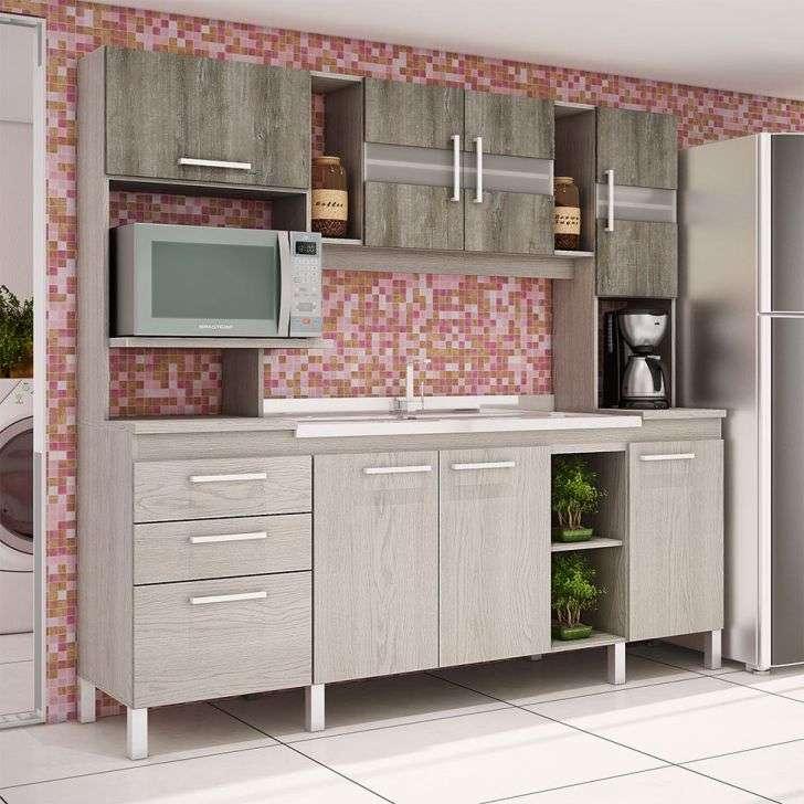 Cozinha Completa Movelbento Emiglia 7 Portas 3 Gavetas Com080-gat