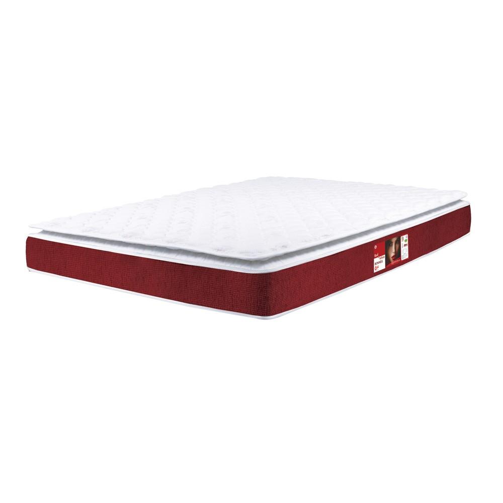 Colchão Castor Red & White 79x198x25cm Molas Bonnel Solteiro
