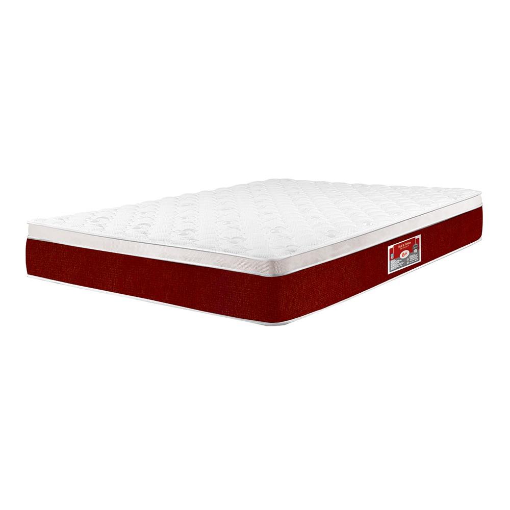 Colchão Castor Red & White 138x188x27cm Molas Pocket Casal