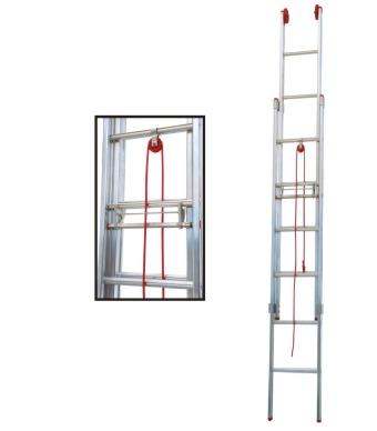 Escada de Alumínio Extensível 22 Degraus Ex122 Alulev