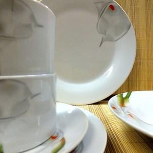 Aparelho de Jantar e Chá Porcelana 20 Peças - Pratic Casa