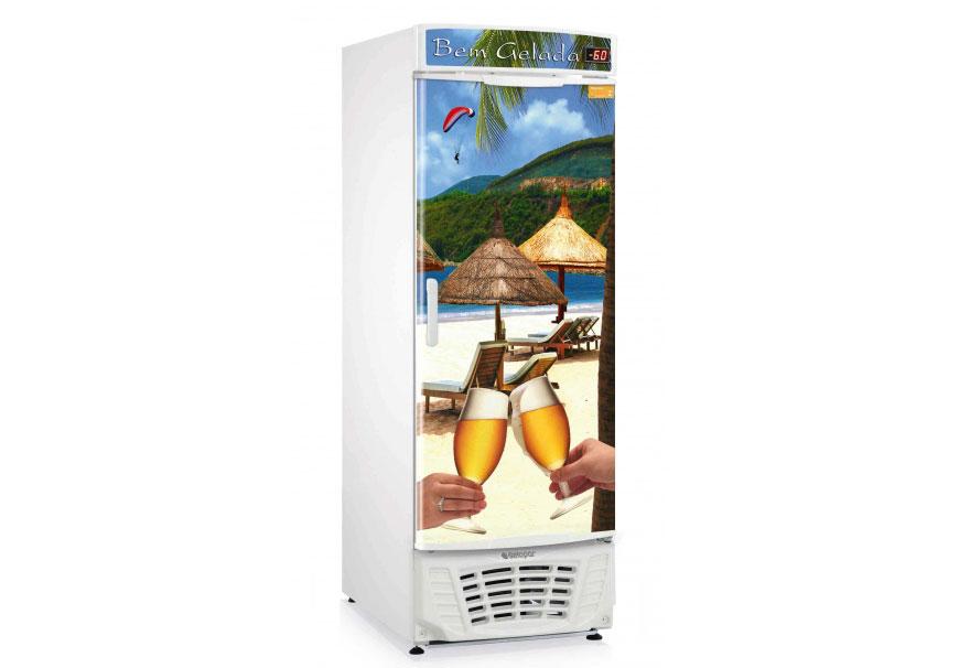 Geladeira/refrigerador 445 Litros 1 Portas Adesivado - Gelopar - 220v - Grba450