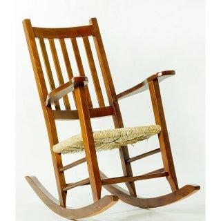 Cadeira de Balanço Palha Imbua Mão e Formão