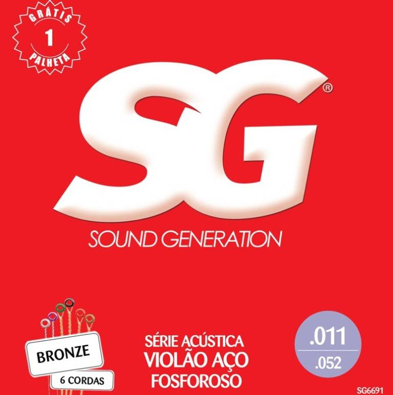 Encordoamento Fosforoso 0.11 Aço Sg6691 Sg - Sound Generation