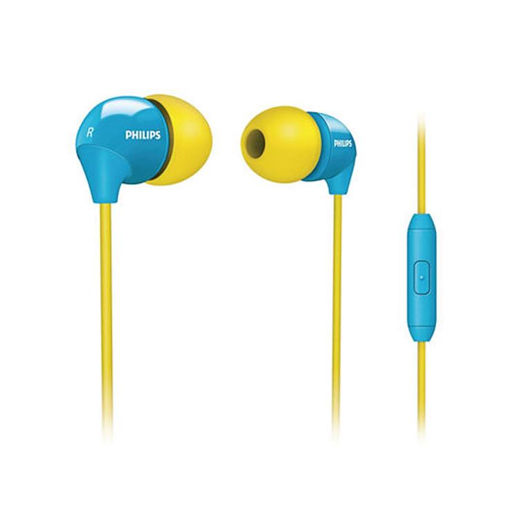 Fone de Ouvido Intra-auricular Amarelo e Azul Philips She3575