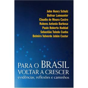 Para o Brasil Voltar a Crescer: Evidências, Reflexões e Caminhos - John Henry Schulz