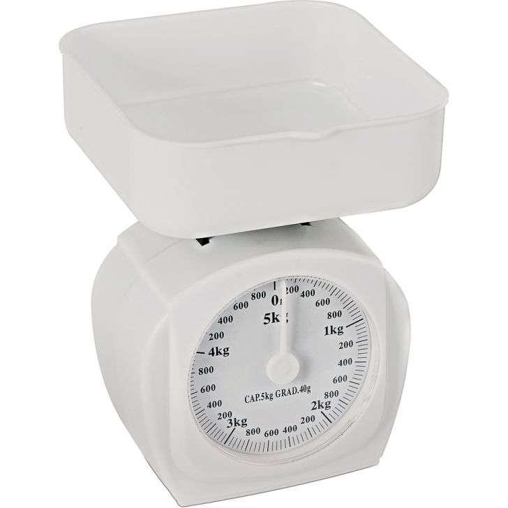 Balanca de Cozinha Hercules 5kg Branco Mecânica Blc10