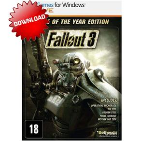 Jogo Fallout 3: Game Of The Year Edition para Download Bethesda - Pc
