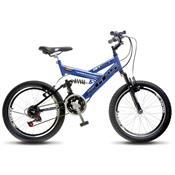 Bicicleta Colli Bike Gps Aro 20 Full Suspensão 21 Marchas - Azul