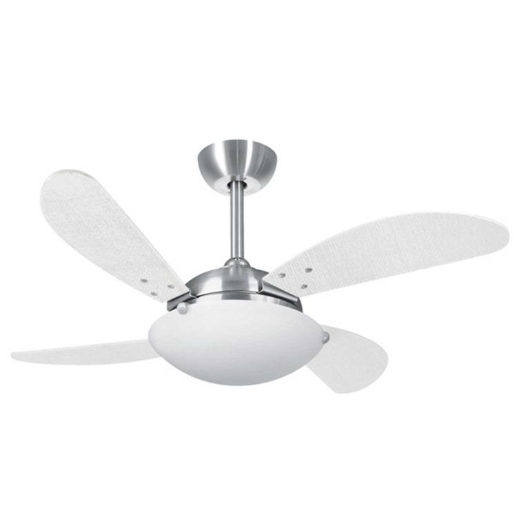 Ventilador de Teto 4 Pás Volare Platinum Fly Palmae Branco Cm - 110v - Vr42