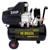 Compressor de Ar Elétrico 25 Litros V8 Brasil 8,2/25l 110v