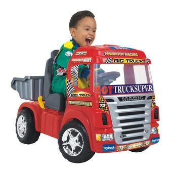Mini Carro Magic Toys Caminhão Big Truck 6v - Vermelho