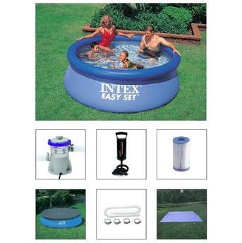 Piscina Circular Intex Easy Set 110 2.419l - Com Bomba Filtro