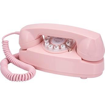 Telefone Com Fio Crosley Retrô Princess Cr59pi Sem Id Rosa